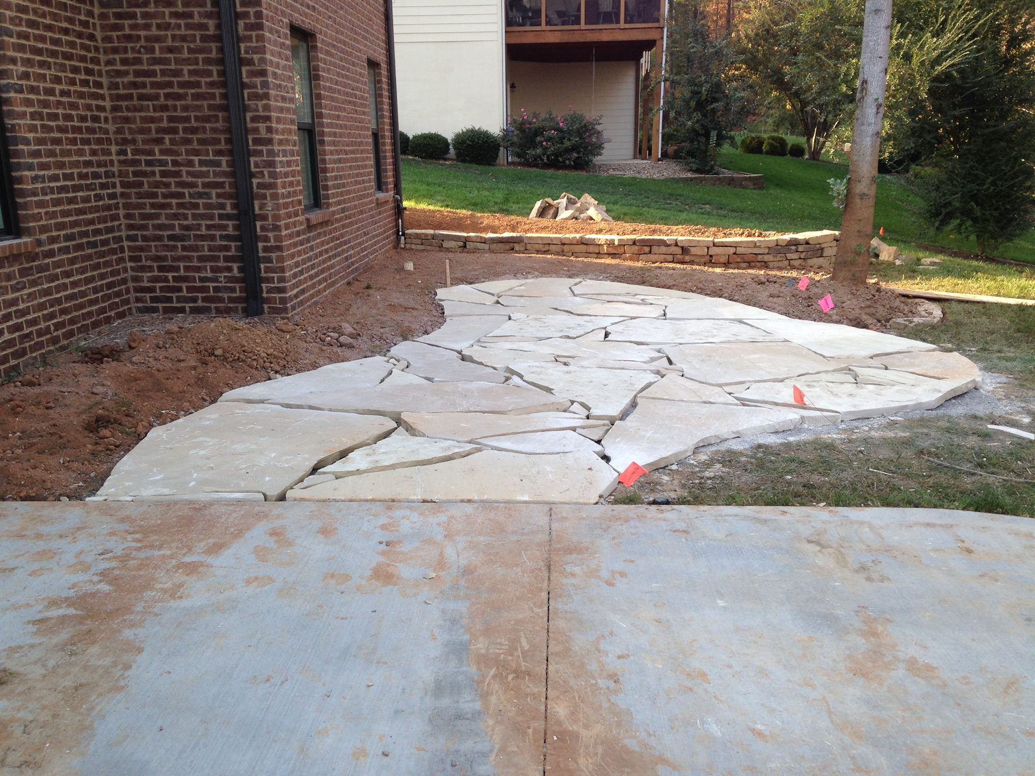 Under Construction Flagstone Terrace