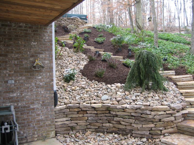Sumner residence, Stone Stairway